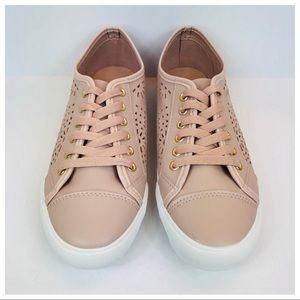 New Restricted Laser Cut Pink Sneakers Size 9M